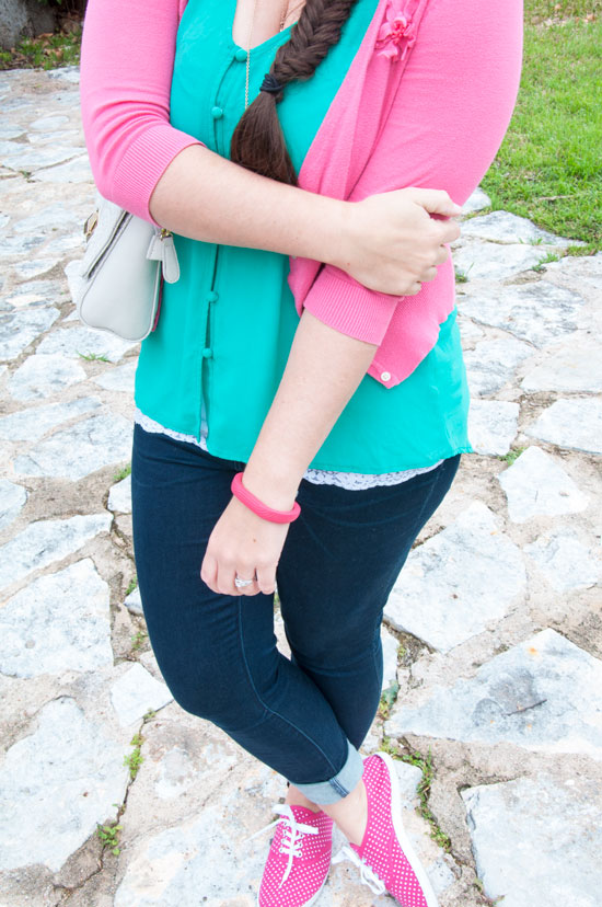 Pink and green outfit inspiration
