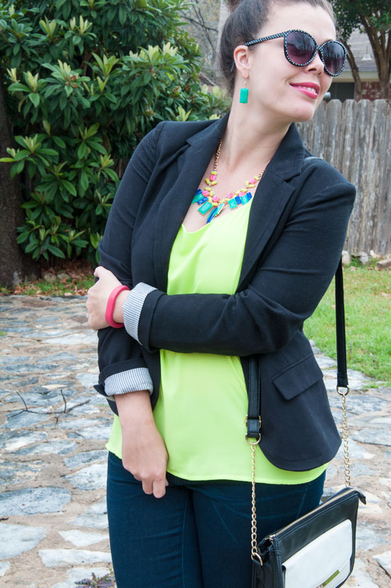Styling neon yellow for spring