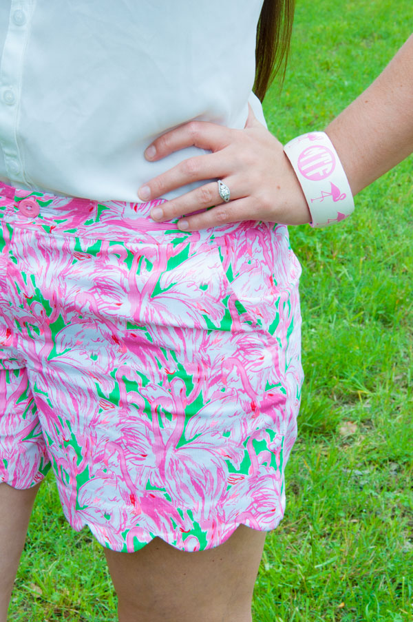 Flamingo Bangle Bracelet from Sweet and Southern Things on Etsy