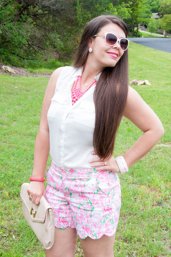Green Pink Colony Shorts from Lilly Pullitzer