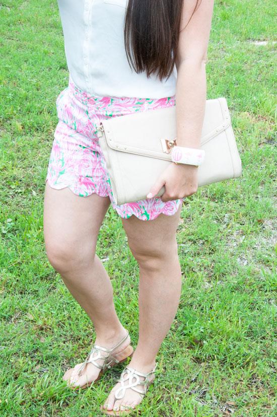 Lilly Pulitzer Flamingo Shorts
