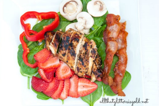 Spinach and Strawberry Summer Salad