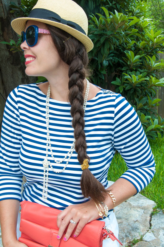 Navy nautical top