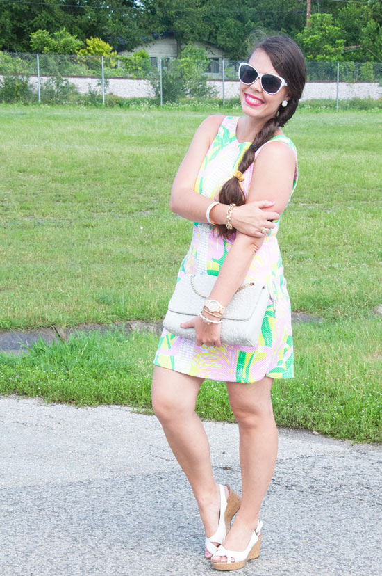 Green and Pink Lilly Dress
