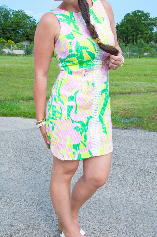 Lilly-dress-with-white-wedges