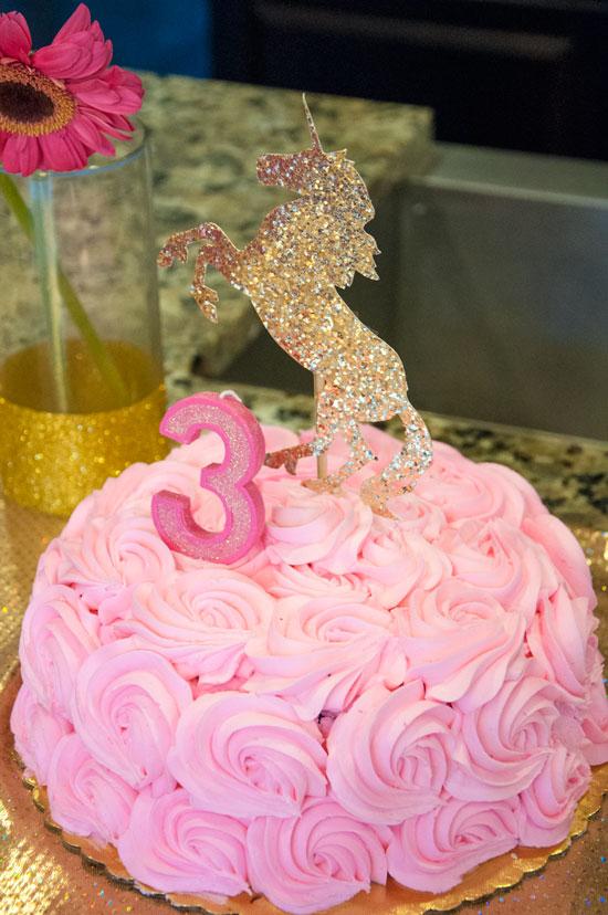 Pink and Gold Unicorn Cake- Unicorn birthday party