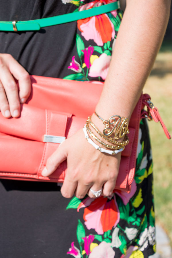 Initial bangle bracelet
