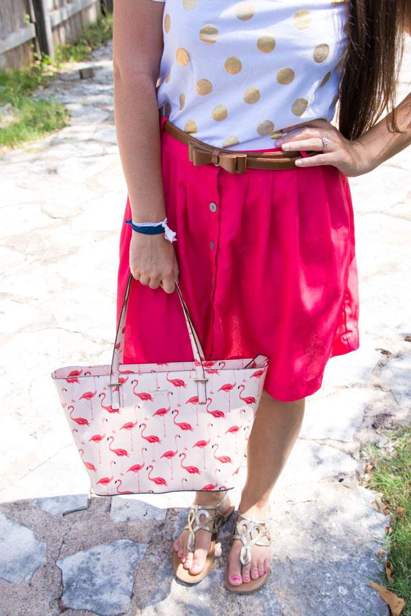 Kate Spade flamingo handbag