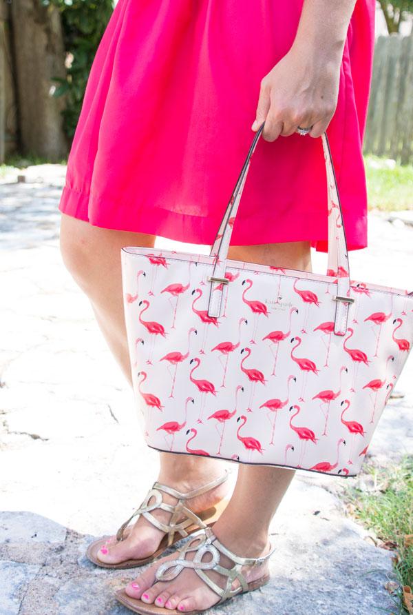 Kate spade cedar street flamingo handbag