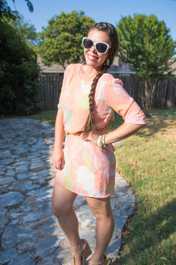 Peach and Mint Lulus dress