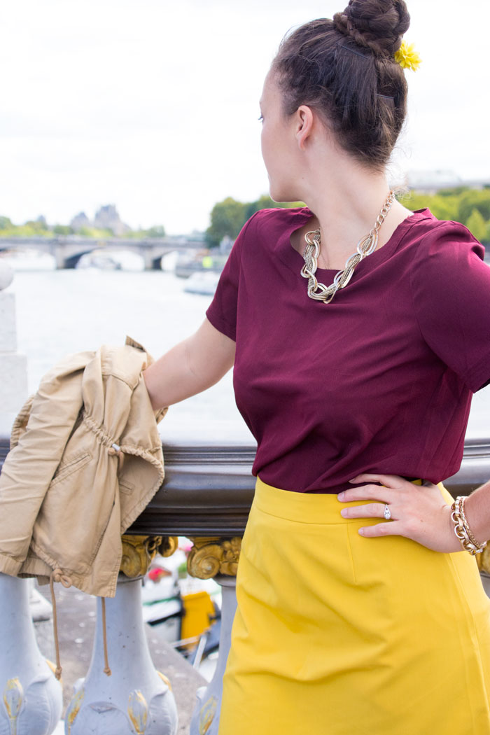 ASOS Mustard Scalloped skirt