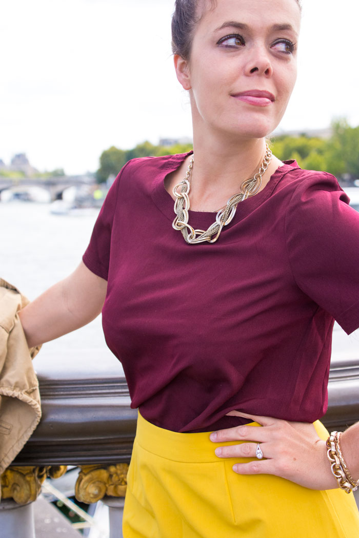 Scalloped Mustard Skirt