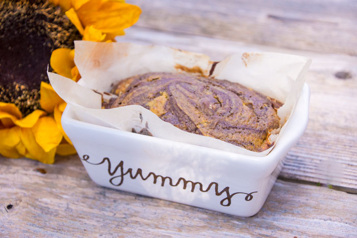Paleo Chocolate Swirl Pumpkin Bread
