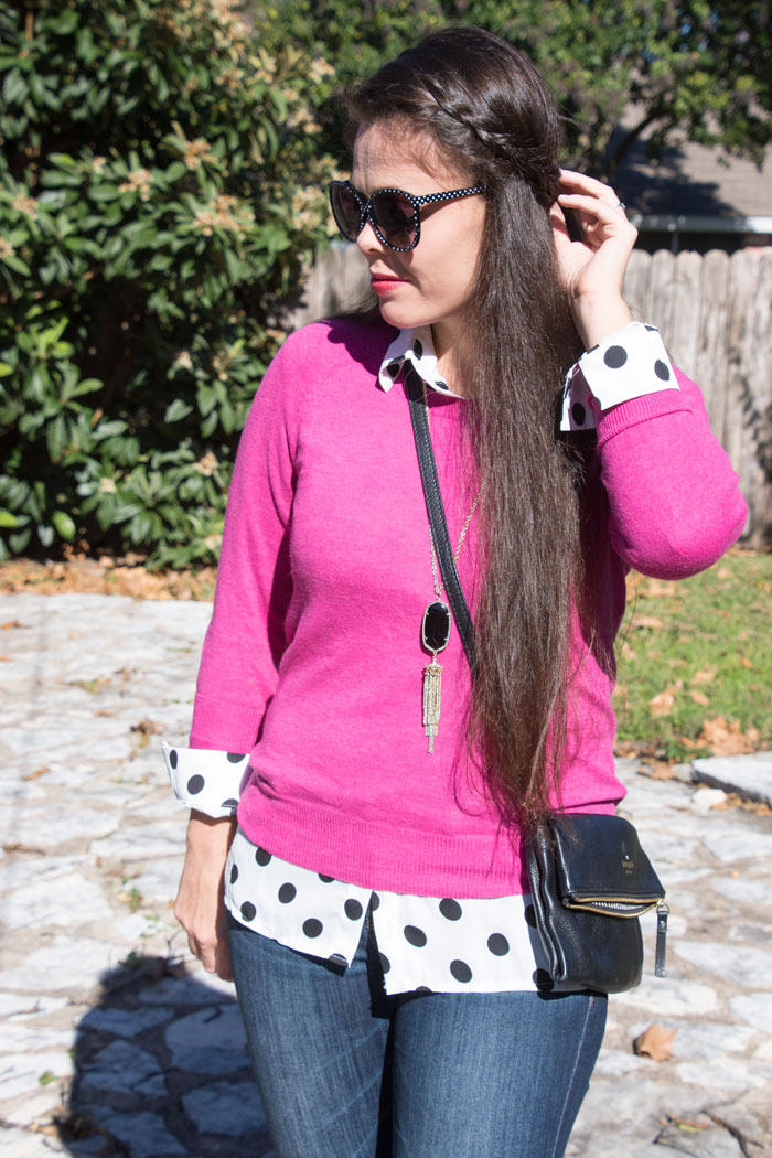 Pink with polka dots