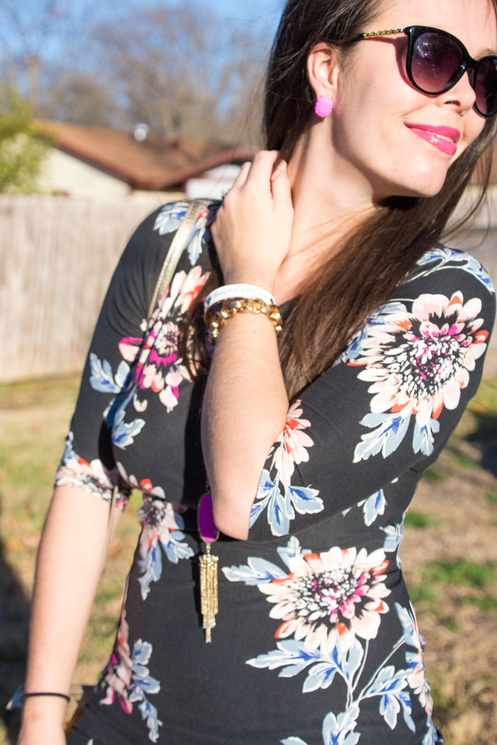 Black Floral dress for spring