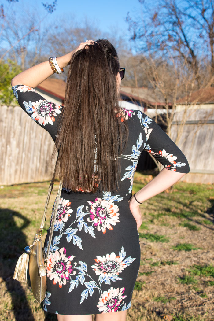 Black floral dress from Good Row