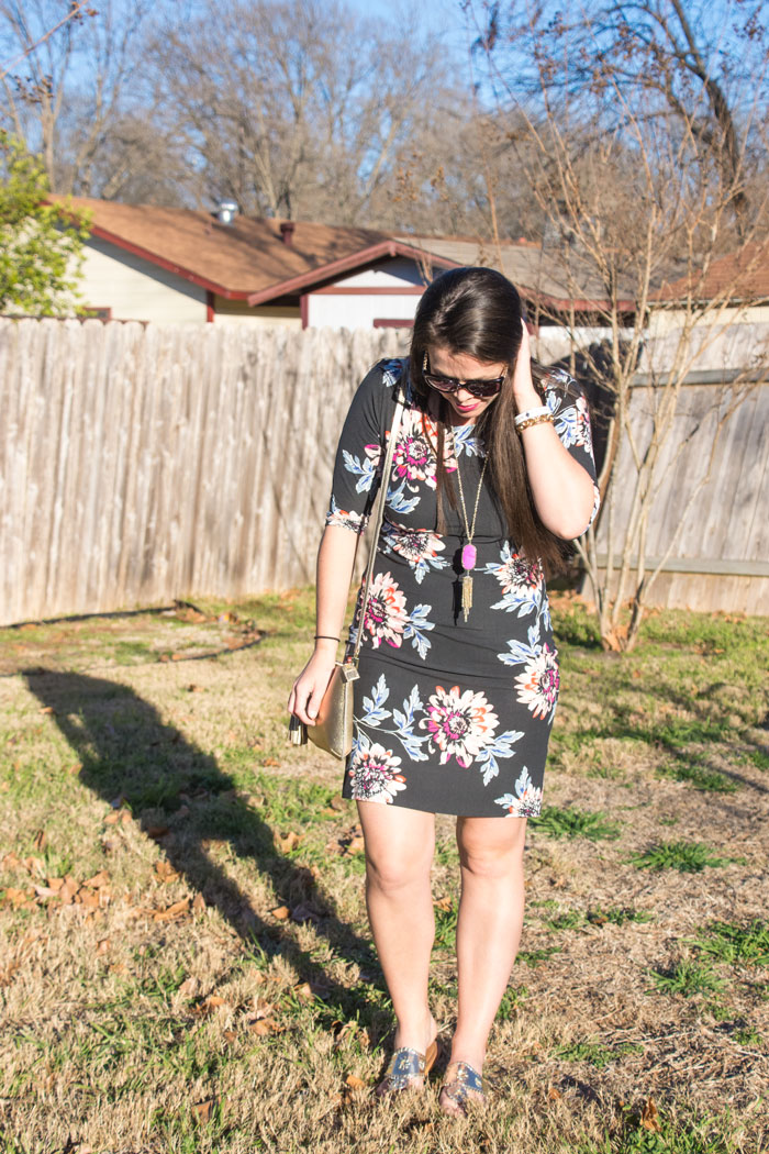 Floral midi dress-Good row