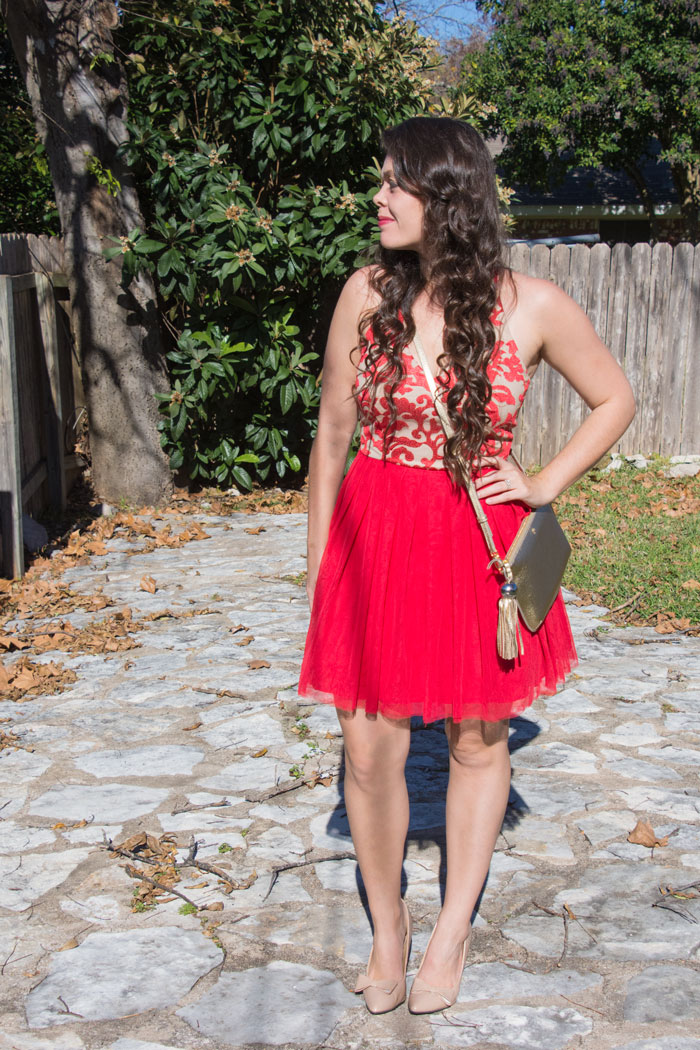 Red new years dress