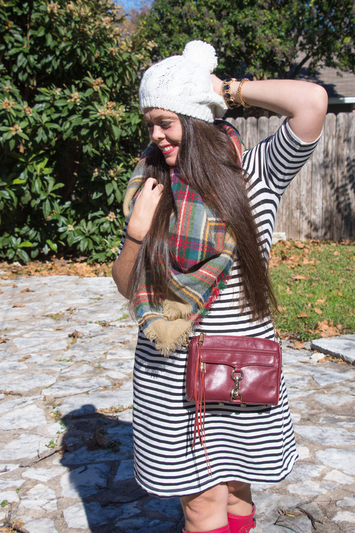 Stripes and plaid scarf